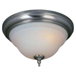 World Imports 3 Light Flush Mount Satin Nickel Ceiling Light (WI838702