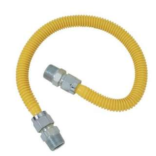 . ProCoat Coated Stainless Steel Gas Appliance Connectorwith Fittings