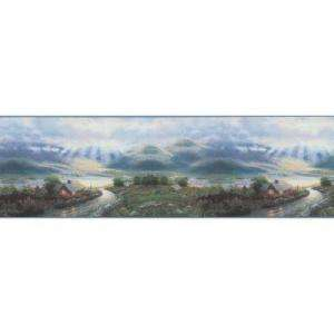 The Wallpaper Company 10.25 in X 15 Ft Blue Cottage Border (WC1282816