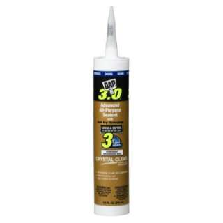 DAP 3.0 9.8 Oz. Clear Advanced All Purpose Sealant 18362 at The Home