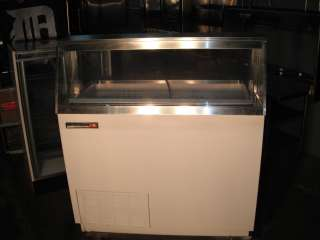 ICE CREAM DIP CABINET FREEZER, KELVINATOR, 8 TUBS, 115V, CLEAN