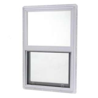 Vinyl Single Hung Windows, 24 in. x 30 in. White with Single Glass and