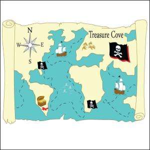 Trace Designs 40 In. x 60 In. Pirates Cove Treasure Map Trace and