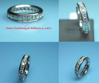 Top massiver Memorie Brillant Ring ca. 2,60ct. Mit Gutachten Wert 8