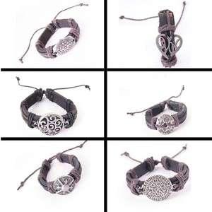 Wholesale Genuine Leather Mens&Ladys Fashion Charms Bracelets