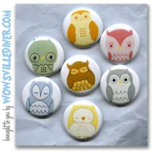 HARLEY AND BOSS OWLETS / OWLS   PINS BUTTONS BADGES