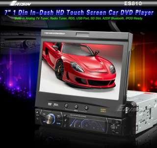 ES810 7 Inch 1 Din In Dash Digital Touchscreen Car DVD Player TV iPod