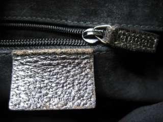 Vintage Gucci Black Leather w/ Bamboo Handle Hobo Bag
