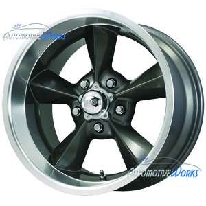 Old School 5x120.65 5x4.75 +0mm Gun Metal Wheels Rim Inch 18