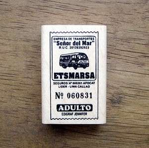 Decorative Stamps Rubber Stamp_Bus ticket