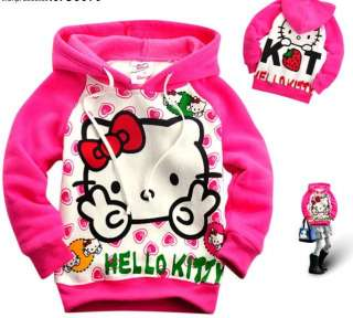 Hello Kitty Girls Pink Hoodie 2 7 Years Hoody Sweatshirt Jumper Jacket