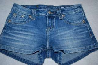 Womens MISS ME jean shorts size 26 Crystal Rhinestone studs Litte Miss
