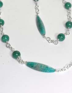 N045 HANDCRAFTED SILVER PLATED RUSSIAN ITE NECKLACE