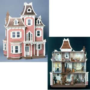 GRAND VICTORIAN BEACON HILL DOLLHOUSE WOOD KIT   BRAND NEW