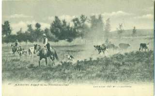 MONTANA   Branding, L A Huffman 1908 post.used POSTCARD