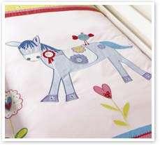 Girls Bedding Pink Horse / Pony Single Cotton Duvet Set