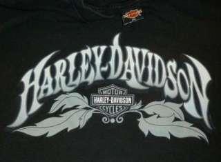 HARLEY DAVIDSON T Shirt YUCCA VALLEY CA Vintage BLACK Motorcycle BIKER