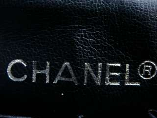 CHANEL VINTAGE CHEVRON CHAIN STITCHED LOGO ORGANIZER HANDBAG BLACK