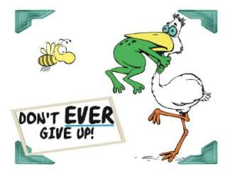 Custom Made Tee Shirt Dont Ever Give Up Pelican Bird Frog Neck Funny