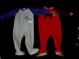 USED BABY BOY SLEEPWEAR 12 18 months Pajama SLEEPERS or OUTFIT CLOTHES