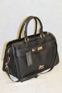 Ladies Cayenne Satchel Handbag Purse Black # GU 9957