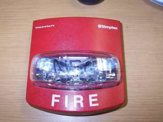 SIMPLEX 4906 9101 RED FIRE ALARM MULTI CANDELA STROBE