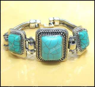 wholesale jewelry lots of Turquoise Tibet silver Bracelet&Earring Set