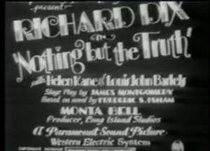 Nothing But The Truth DVD 1929 Richard Dix RARE Early Talkie Comedy