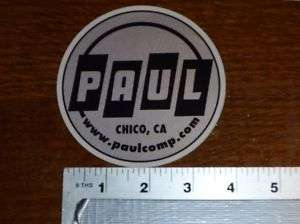 Paul Components Large Logo Sticker Decal
