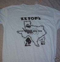 ZZ TOP Takin Texas To The People Barbwire BLUE Large T