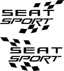 2x Aufkleber Seat Sport Flagge, Leon, Ibiza,Toledo.