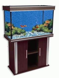 NEW 75 GALLON AQUARIUM AND TANK STAND WITH SILVER TRIM