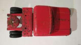 VINTAGE 1960s TONKA TANKER TRUCK SEMI W/ TRAILER HUGE 28