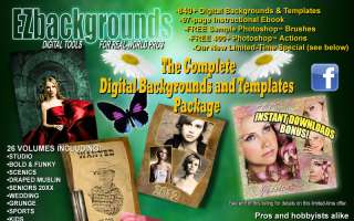 ULTIMATE DIGITAL PHOTO BACKGROUNDS & PHOTOSHOP TEMPLATE