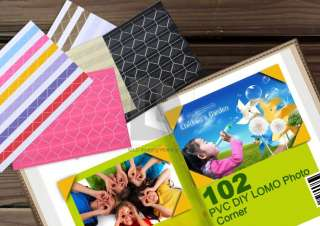 Scrapbooking Album Sticker Multi Color Adhesive Photo Corners DIY