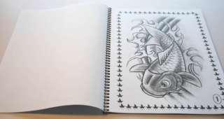KOI FISH TATTOO FLASH JAPANESE STYLE ART SKETCH BOOK