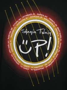 Mens SHANIA TWAIN 2003 UP! Concert Tour T Shirt 2X