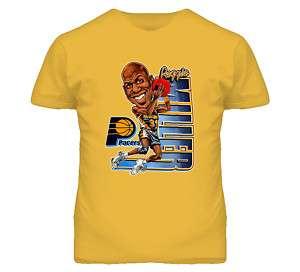 Reggie Miller Reto Basketball Caricature T Shirt