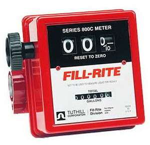 Fill Rite 807C   3/4 Mechanical Flow Meter (5 20 GPM)
