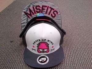TRUKFIT HAT CAP Snap snapback MISFITS Charcoal White Pink LIL WAYNE