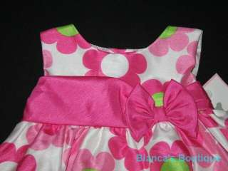 SATIN DAISY Dress Girls Baby 3m Spring Summer Clothes Easter