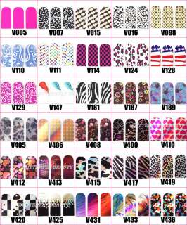 30 Styles Hot Sale Nail Art Sticker Colorful Patch Foils Armour wraps