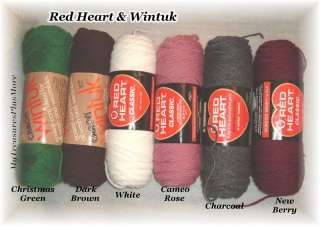 Red Heart Classic Yarn & Wintuk Yarn 1