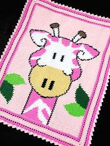 Patterns   GIRAFFE Zoo/Safari Color Graph BABY GIRL AFGHAN Pattern