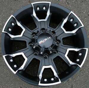 BALLISTIC OFF ROAD HAVOC 904 20 BLACK RIMS WHEELS CHEVY SILVERADO