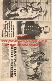 Texas Rangers Battle of Bird Creek + Genealogy