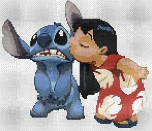 Lilo & Stitch Counted Cross Stitch Kit