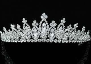 Bridal Wedding Sparkling Crystal Handmade Tiara T1494