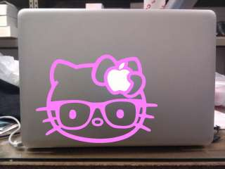 Hello Kitty NERDY Glasses Decal MacBook Vinyl Sticker