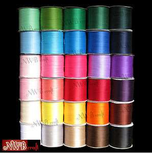 3MM x 20M DOUBLE SIDED HIGH QUALITY SATIN RIBBON, ASSORTED COLOURS